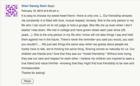 Stories of Friendship bring 'anewfavoriteday